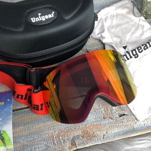 Ski Goggles Brand New with Case Orange Snowboard